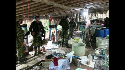 Vraem: destruyen megalaboratorio de droga de alta pureza