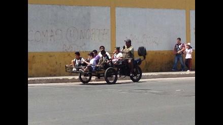 WhatsApp: escolares son trasladados en triciclo en el Cercado