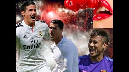 Messi, Cristiano, James entre los más deseados para una aventura sexual