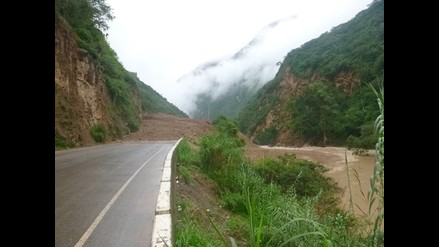 Amazonas: continúa interrumpido el tránsito en la vía Fernando Belaunde Terry