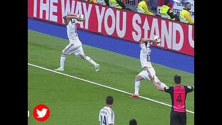 Real Madrid: James Rodríguez y Coentrao realizan coreografía sacando lateral