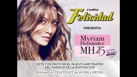 Myriam Hernandez celebra sus 25 años de carrera en Perú