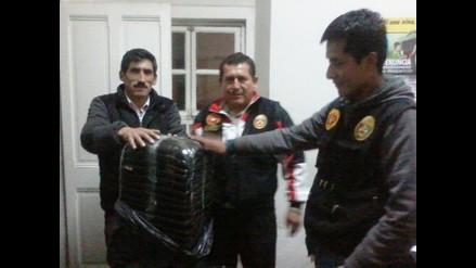 La Oroya: PNP decomisa 120 kilos de hoja de coca dentro de un camión