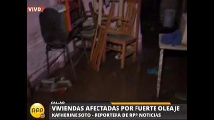 Callao: Oleajes intensos afectan 10 viviendas en asentamiento humano