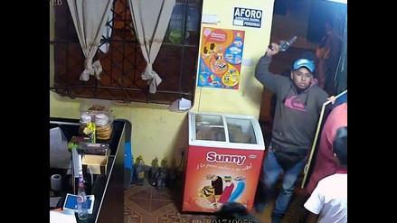 Huaral: delincuentes son grabados cuando asaltaron cabina se internet
