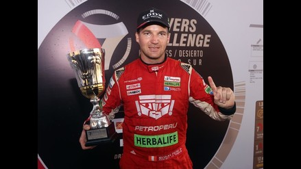 Nicolás Fuchs y las imágenes de su triunfo en el Drivers Challenge Kartcross