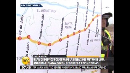 Metro: cerrarán por dos años tramo de la Carretera Central por obras