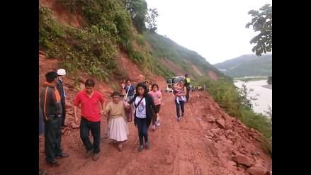 Chanchamayo: huaico restringe el pase vehicular en la Selva Central