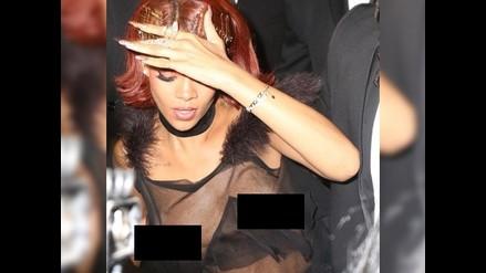 Rihanna dejó ver más de la cuenta después del Met Gala