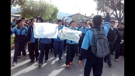Cajamarca: alumnos de San Ramón protestan en las calles