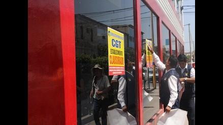 Chiclayo: clausuran temporalmente empresa de Transportes Linea