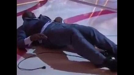 Shaquille O'neil sufrió caída en TV y premiará al que haga el mejor meme