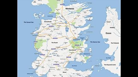 Juego de Tronos: plasmaron Westeros al estilo de Google Maps