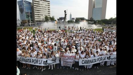 Manifestación en Jalisco para pedir paz ante ola de violencia en México