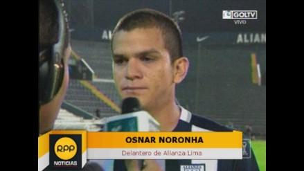 Osnar Noronha sobre su gol con Alianza Lima: Va dedicado a mi madre
