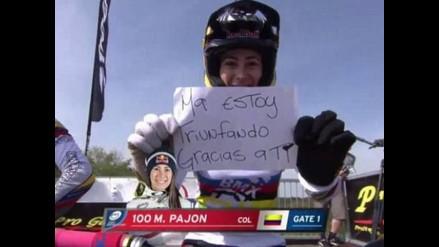 Gran regalo: Mariana Pajón y una medalla de oro dedicada a mamá en su día
