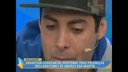 Sebastián Lizarzaburu lloró al hablar de Andrea San Martín