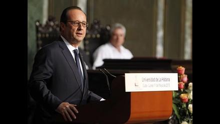 François Hollande se reunió con Fidel Castro durante su visita a Cuba