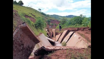 San Martín: Canal de Irrigación Ponaza colapsa debido a constantes lluvias