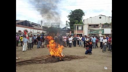 Lambayeque: prenden fuego a oficina administrativa de Tumán