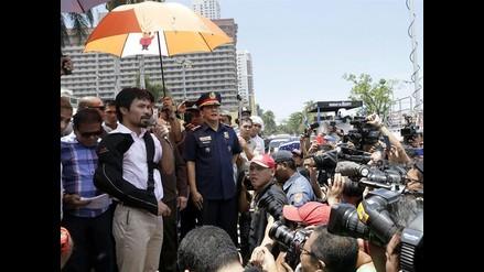 Pacquiao es ovacionado en su regreso a Filipinas tras perder ante Mayweather