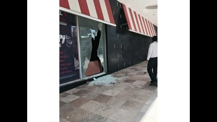 WhatsApp: manifestantes causan desmanes en centros comerciales en Arequipa