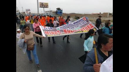 Huacho: trabajadores de minera Buenaventura exigen beneficios laborales