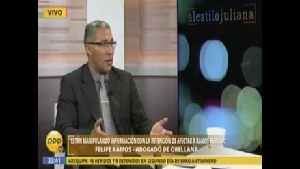 Abogado de Orellana: No hubo vínculo entre Rodolfo, Álvarez y Ramos Heredia