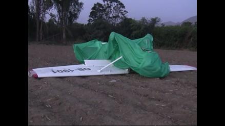 Ica: caída de avioneta deja dos heridos en San José de Los Molinos