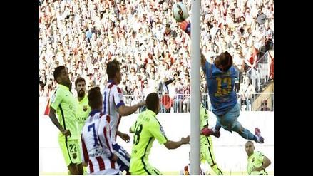 Atlético Madrid vs. Barcelona: Mira la increíble atajada de Claudio Bravo