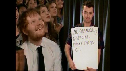 Billboard 2015: Sam Smith promete baile nudista a Ed Sheeran