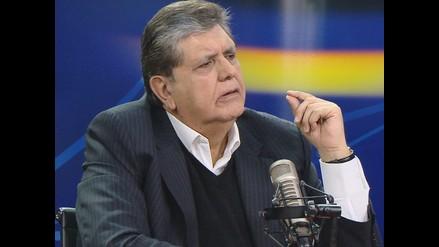 Expresidente Alan García envió respaldo a Aurelio Pastor