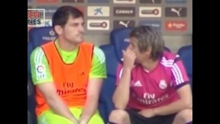 Real Madrid: Fábio Coentrão y su carcajada tras el error de Keylor Navas