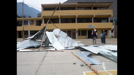 Huaral: fuertes vientos desprendieron techos de viviendas y colegio
