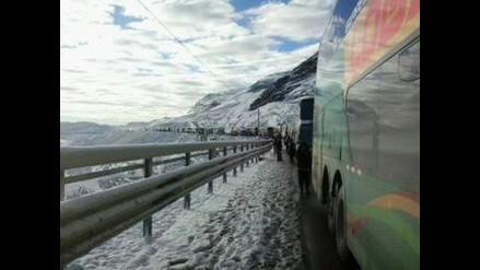 Ticlio: se restableció el tránsito en la Carretera Central tras nevadas