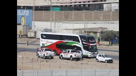 Chiclayo: PNP rechaza intervención irregular a bus interprovincial