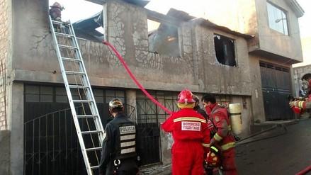 Arequipa: vela encendida provoca incendio en vivienda