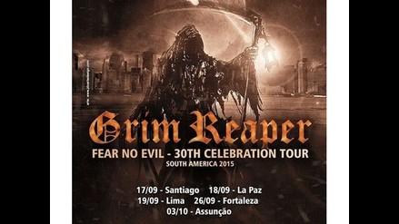 Grim Reaper anuncia concierto en Lima