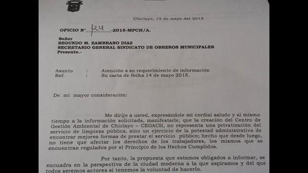 Chiclayo: Cornejo negó que la creación del CEGACH sea sinónimo de privatización