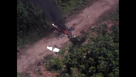 Vraem: hallan avioneta siniestrada de narcotraficantes