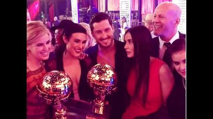 Demi Moore y Bruce Willis celebran el triunfo de su hija en DWTS