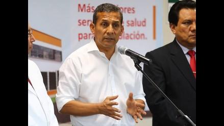 Piura: presidente Humala advierte presencia de sendero en Arequipa