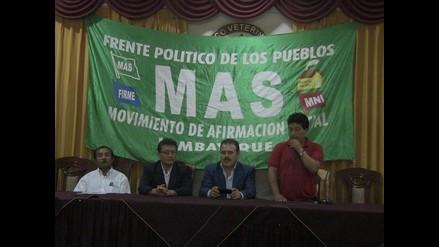 Chiclayo: insisten en candidatura presidencial de Gregorio Santos