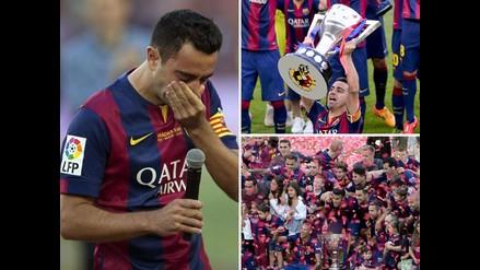 Barcelona: Así celebraron los campeones en despedida de Xavi Hernández