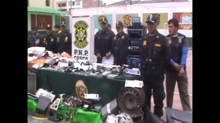Cusco: desarticulan banda delictiva dedicada al robo de autopartes