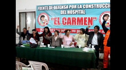 Huancayo: conforman frente de defensa por el Hospital El Carmen