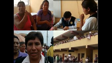 Chiclayo: violencia en intento de reposición de directora de colegio