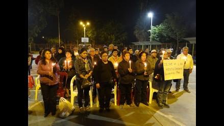 Ica: realizan vigilia en solidaridad con el pueblo de San Juan de Marcona