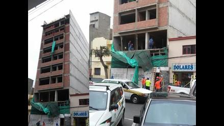 WhatsApp: Pared cae de noveno piso en Lince