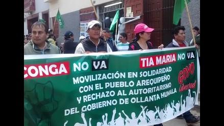 Cajamarca: movilización en apoyo al paro convocado por la región Arequipa